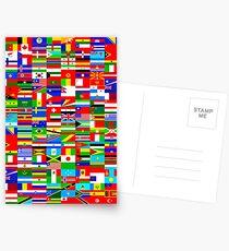 FLAGGEN DER WELT Postkarten