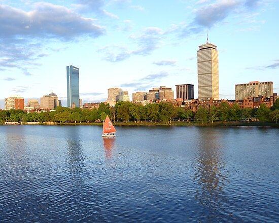 Charles River Sailboat Boston MA by WayneOxfordPh