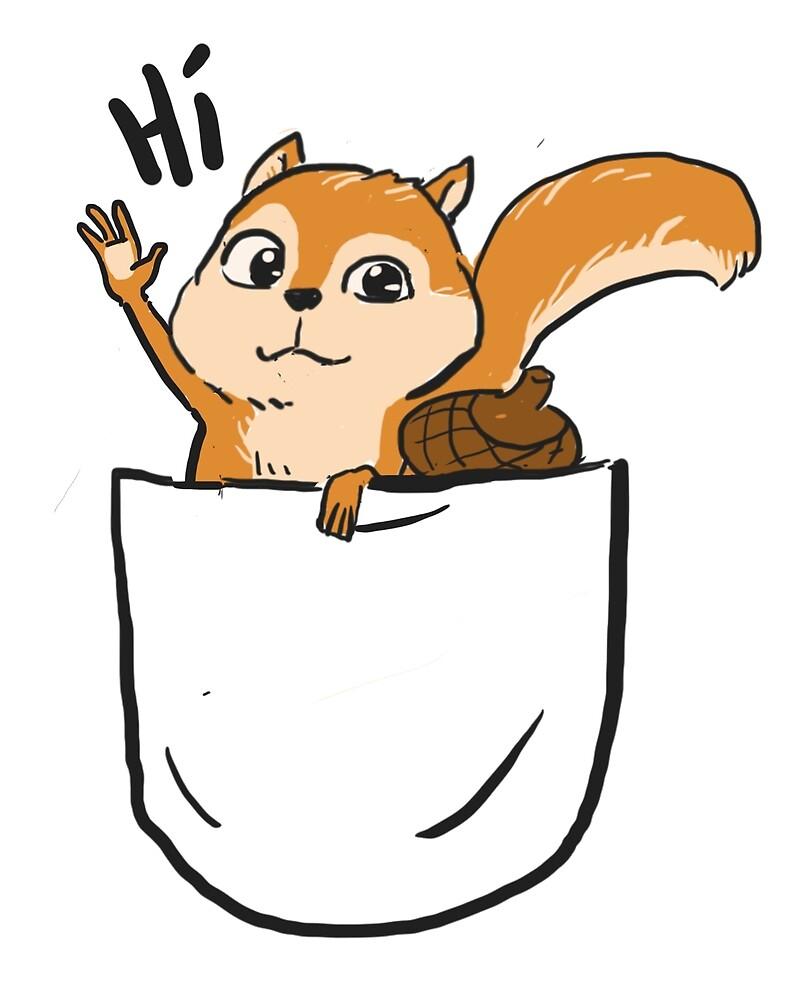 Mr. Squirrel in pocket by faizolhaini