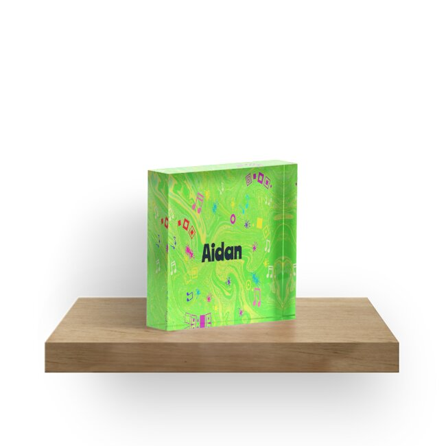 Aidan - original artwork to personalize your gift in green by myfavourite8