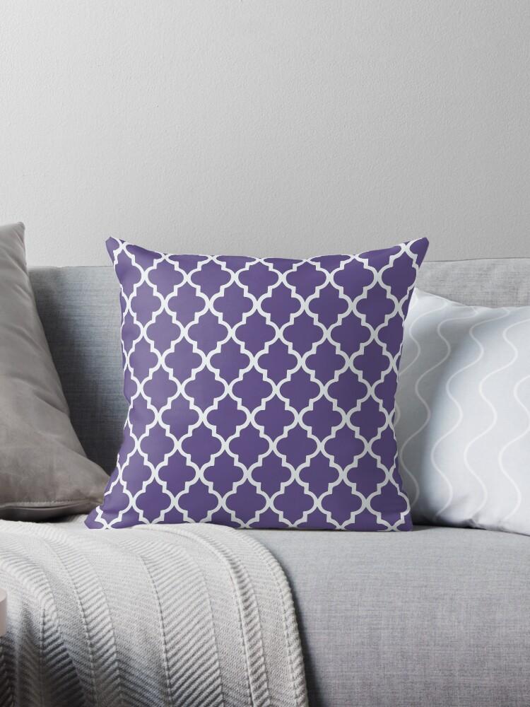 Geometric Ultra Violet Purple Moroccan pattern by koovox