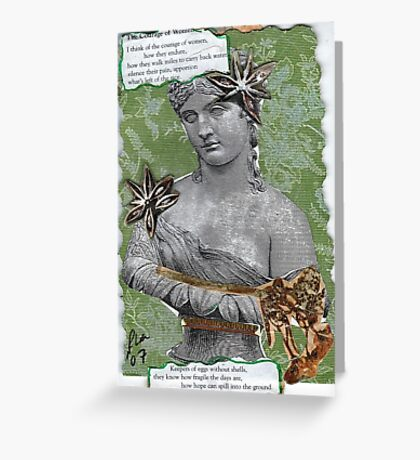 Courage Of Women Greeting Card