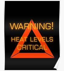 Warning Heat Levels Critical Poster