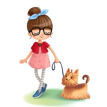 Girl with dog design by vanster