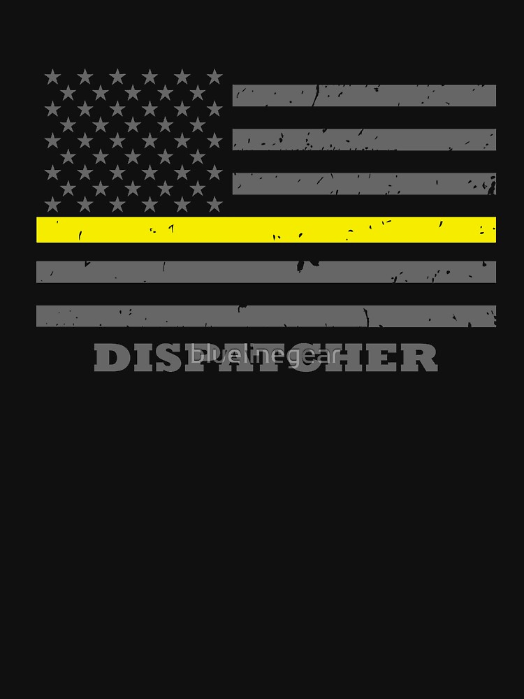 911 DISPATCHER THIN GOLD LINE AMERICAN FLAG by bluelinegear