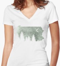 Summers in Pa  Women's Fitted V-Neck T-Shirt