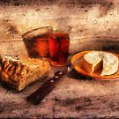 Bread, Wine and Camembert by jean-louis bouzou