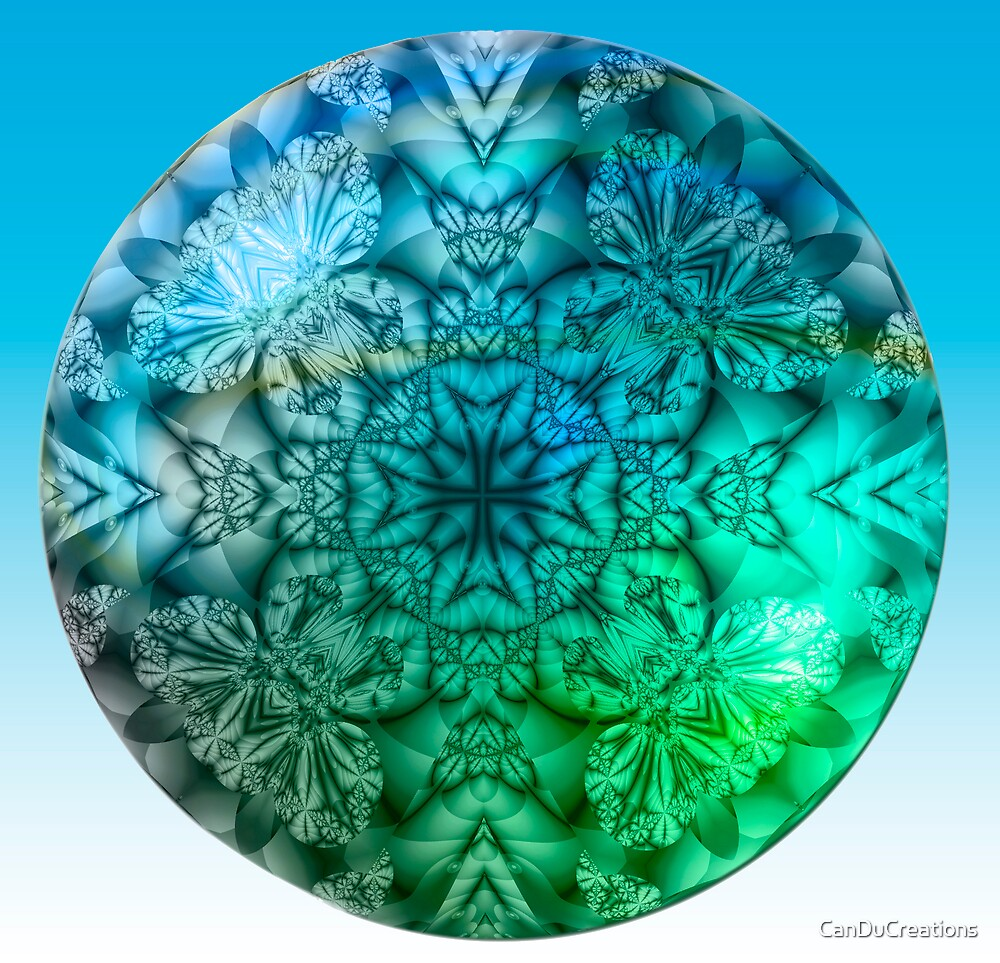 The blue and green Mandala by CanDuCreations