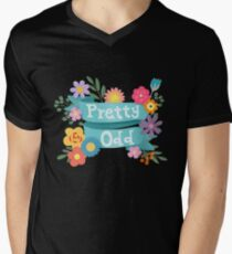 Pretty Odd Floral Banner Men's V-Neck T-Shirt