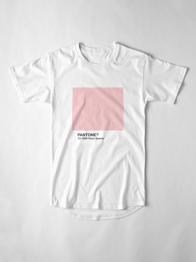Vista alternativa de Camiseta larga Serie Pantone y Tumblr Vibes - Rose Quartz AKA Millennial Pink