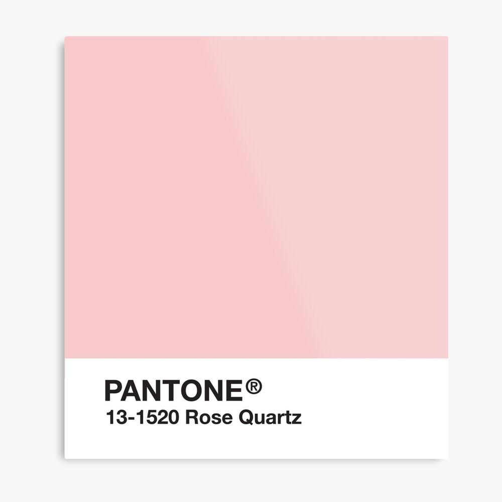 Serie Pantone y Tumblr Vibes - Rose Quartz AKA Millennial Pink Lámina metálica