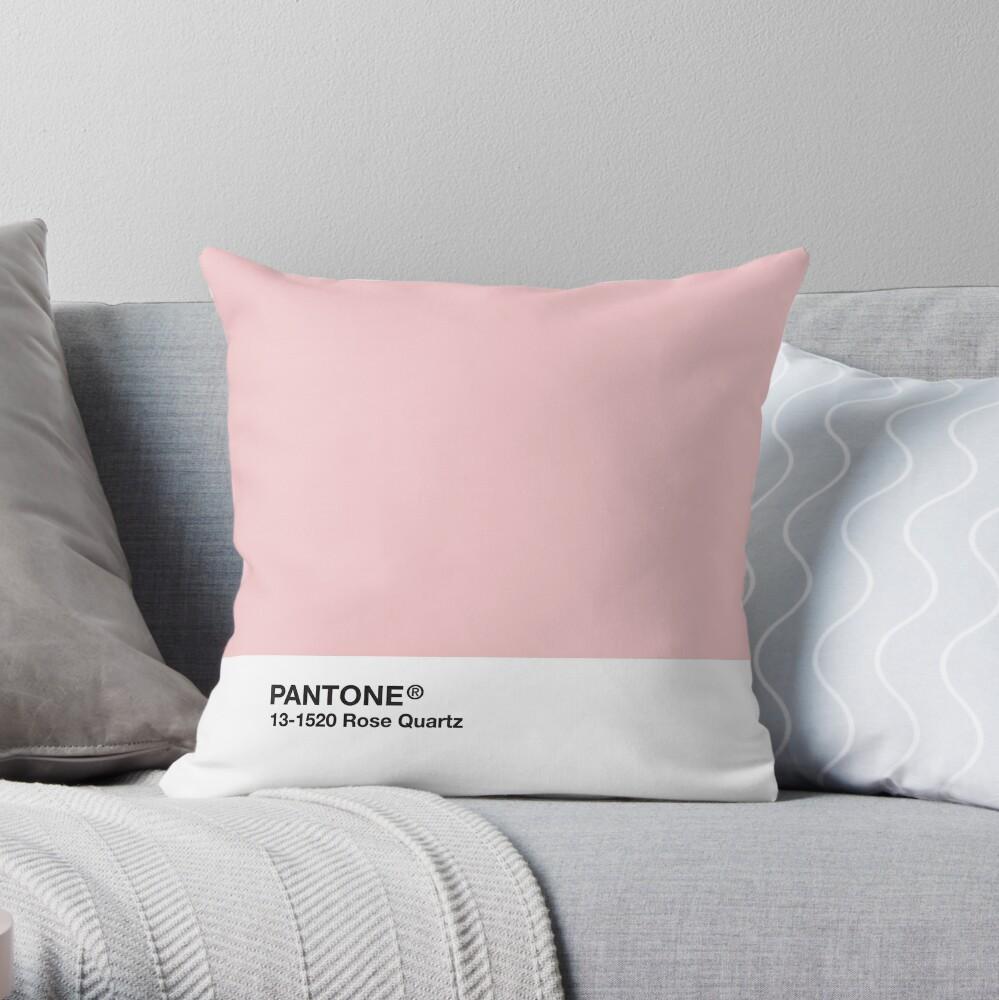 Pantone Serie und Tumblr Vibes - Rosenquarz AKA Millennial Pink Dekokissen