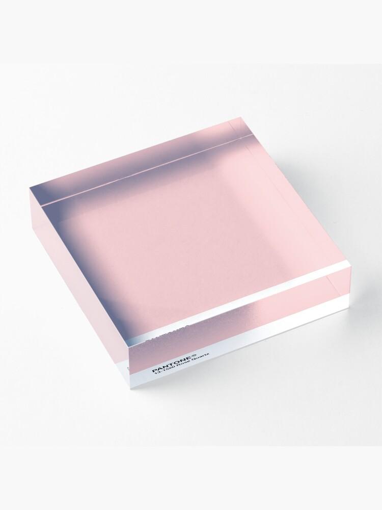 Alternative Ansicht von Pantone Serie und Tumblr Vibes - Rosenquarz AKA Millennial Pink Acrylblock