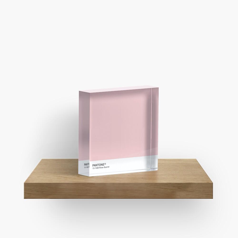 Pantone Serie und Tumblr Vibes - Rosenquarz AKA Millennial Pink Acrylblock