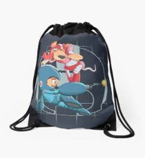 Mega Man and Rush Drawstring Bag