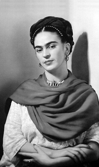 Black and white frida kahlo by williambegley
