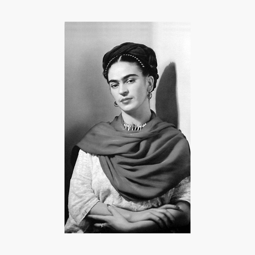 Black and white frida kahlo photographic print by williambegley redbubble