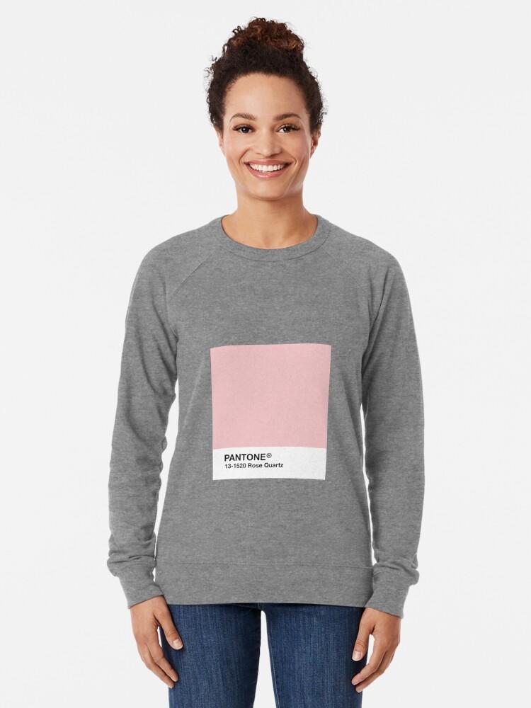 Vista alternativa de Sudadera ligera Serie Pantone y Tumblr Vibes - Rose Quartz AKA Millennial Pink