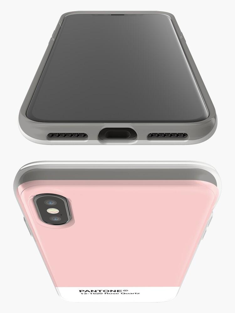 Vista alternativa de Funda y vinilo para iPhone Serie Pantone y Tumblr Vibes - Rose Quartz AKA Millennial Pink
