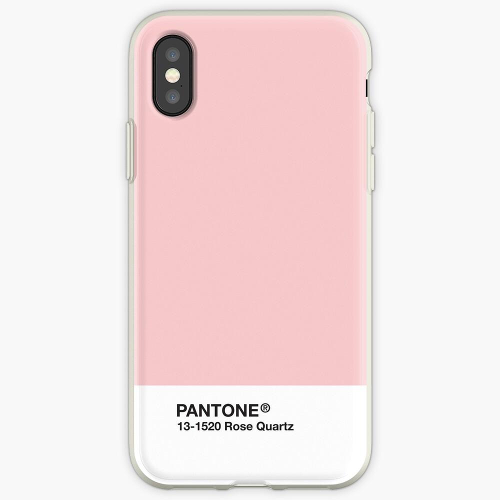Serie Pantone y Tumblr Vibes - Rose Quartz AKA Millennial Pink Funda y vinilo para iPhone