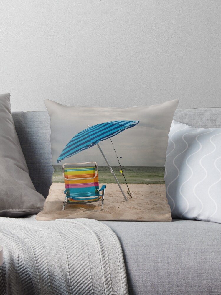 Beach Umbrella and Chair by Joshua McDonough Photography