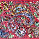 Full Red Paisley by TIART