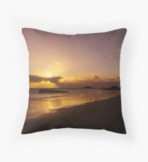 Sun Down of the New Year Throw Pillow