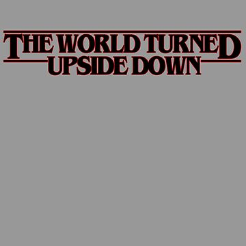 The world turned upside down (black) by downeymore