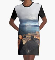 Distant Rainbow Graphic T-Shirt Dress