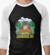 Groundhog Day 2018 Men's Baseball ¾ T-Shirt