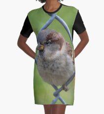 Mei Spatzl #2 - Sparrow | Roosevelt Island, New York Graphic T-Shirt Dress