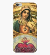 Virgin Mary with Sacred Heart of Jesus iPhone Case