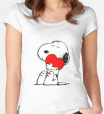 Snoopy! Women's Fitted Scoop T-Shirt