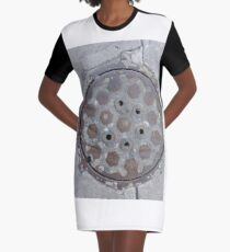 3D Surface, 3D, Surface Graphic T-Shirt Dress
