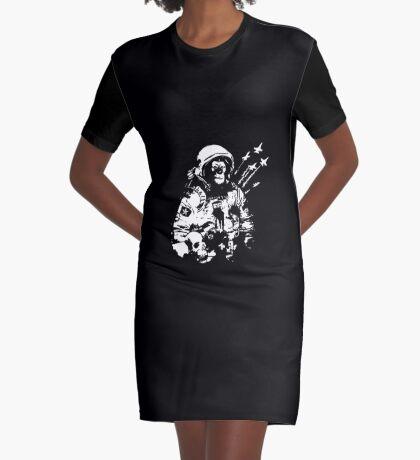 Space Chimp Graphic T-Shirt Dress