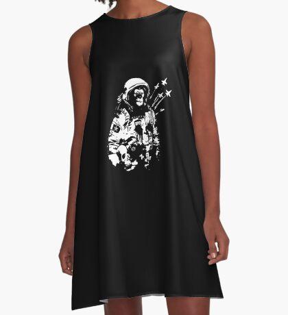 Space Chimp A-Line Dress