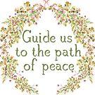 Führe uns auf den Weg des Friedens | Bibel Vers von PraiseQuotes