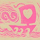 Love Sail...Boat in pink by Stacie Arellano