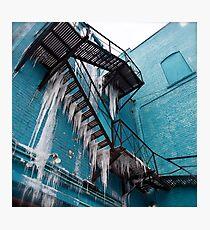 Frozen Waterfalls Photographic Print