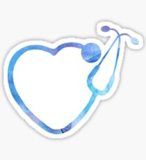 Nurse Watercolor Symbol Sticker