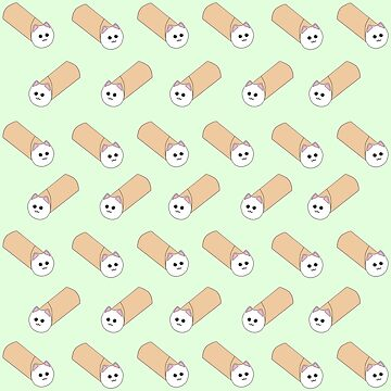 Purrito Pattern by ahillustration