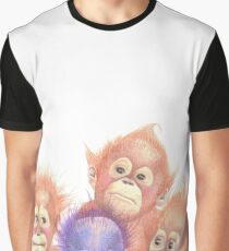 Orangutans, Orange, Purple, Babies Graphic T-Shirt