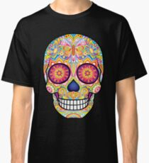 Sugar Skull with Butterflies Classic T-Shirt