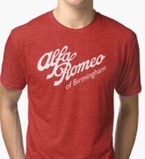 Classic Alfa of Bham White Tri-blend T-Shirt