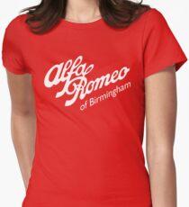 Classic Alfa of Bham White Women's Fitted T-Shirt