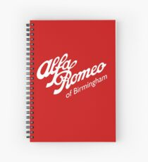 Classic Alfa of Bham White Spiral Notebook