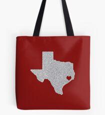 Houston, TX Glitter State Tote Bag