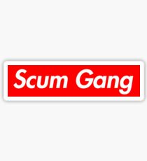 Scum Gang Box Logo Rapper 6ix9ine Sticker