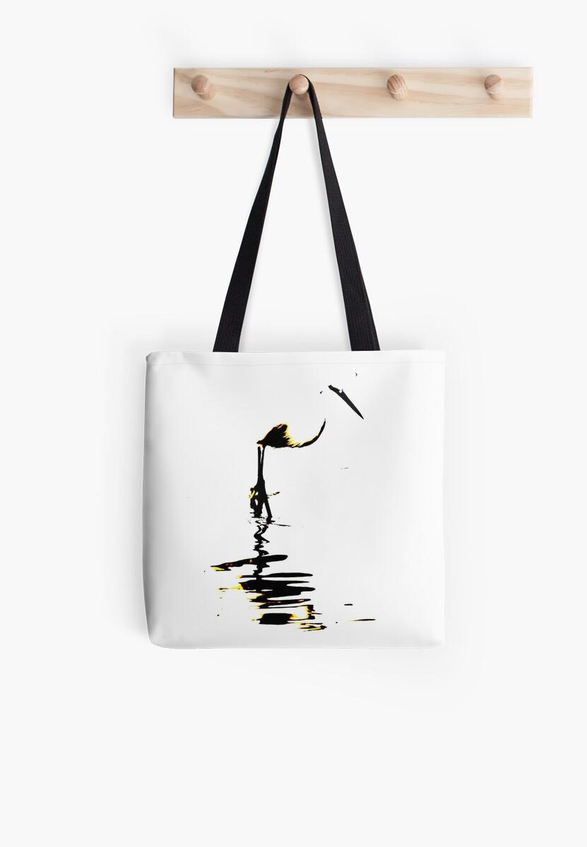 Stylized Egret artwork Waterbird Collection by derbyshireduck