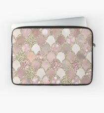 Rose gold mermaid scales - gold Laptop Sleeve
